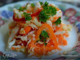 Слоппи капустный салат с соусом