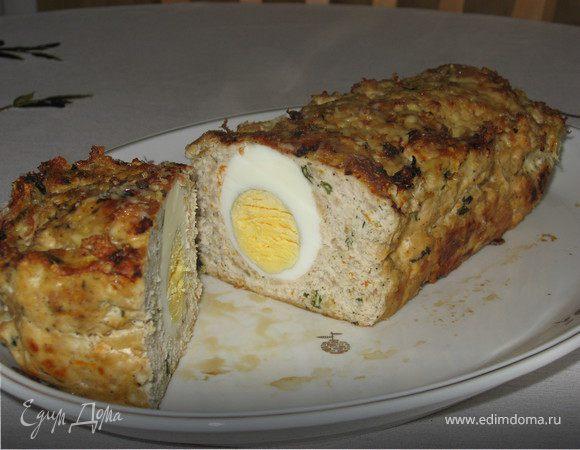 Мясная запеканка с куриным яйцом
