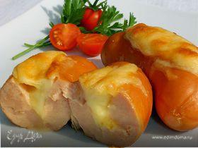 Сардельки с сыром в духовке