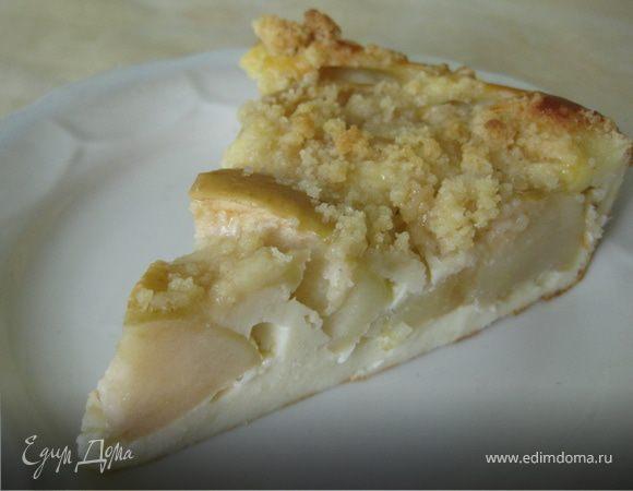 Яблочный пирог с карамельной крошкой