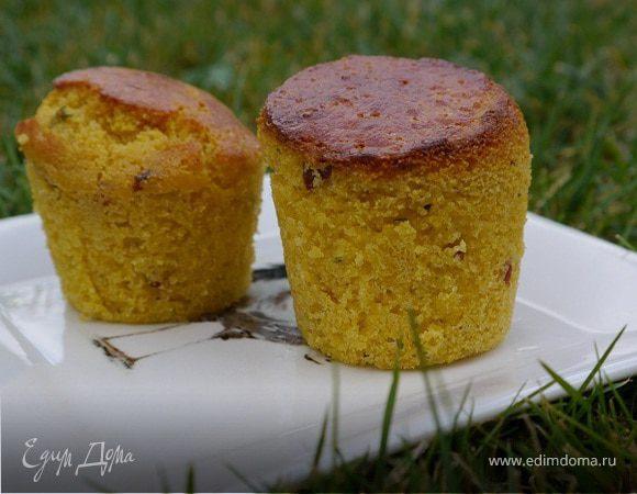 Кукурузные маффины с беконом и тимьяном