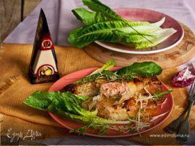 Лосось в хрустящем тесте с сыром и шпинатом