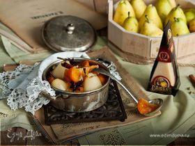 Груши, томленные в пряном сиропе с мандаринами
