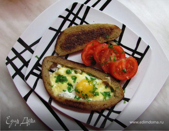 Яичница в хлебушке