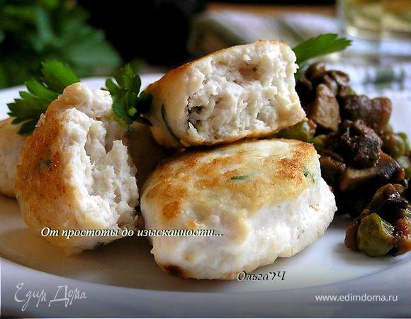 Морбиделле из курицы с шампиньонами и горошком от Валентино Бонтемпи