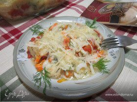 Рыбная запеканка с сыром Джюгас