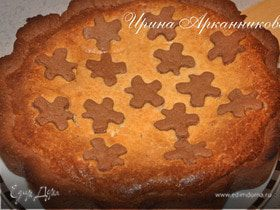 Творожный открытый пирог