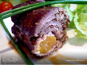 Мясные рулеты с морковной серединкой и инжиром «Бургундия, Нормандия, Шампань или Прованс...»