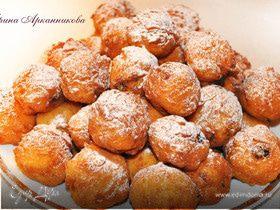 Творожные пончики с изюмом