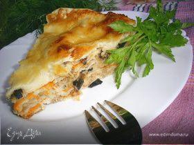 Пирог-лазанья с тремя начинками