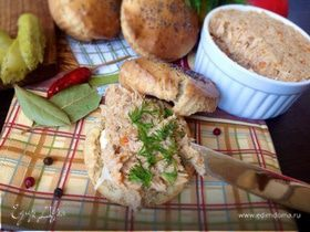 Рийет из курицы и заварные булочки