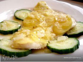 Гратен с треской и картофелем под ванильно-сливочным соусом