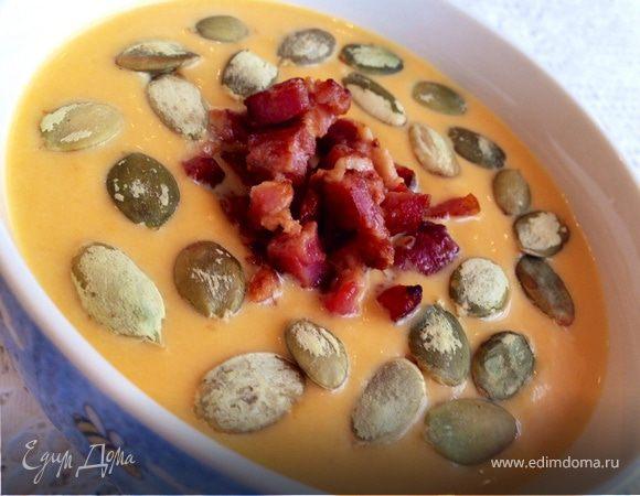Сливочный тыквенно-имбирный суп