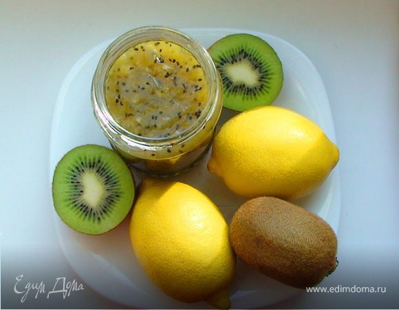 Джем из киви и лимонов с кардамоном