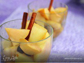 Яблочно-грушевый десерт с корицей