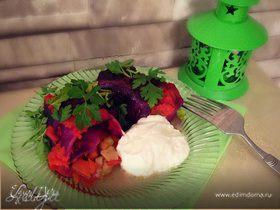 Голубцы из краснокочанной капусты с овощной начинкой