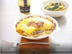 Гратен с картофелем и грибами