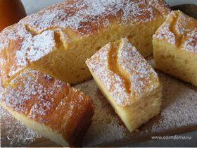Творожно-апельсиновый пирог из кукурузной муки (без масла)