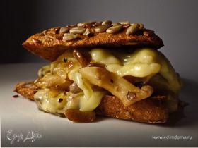 Сэндвич с вешенками и сыром