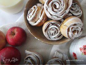 """Печенье """"Яблочные розочки"""""""