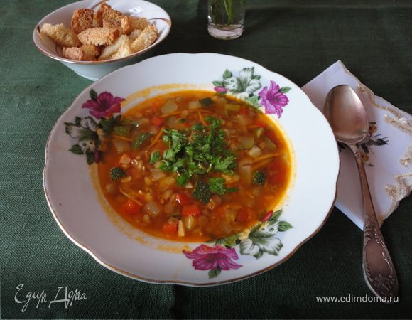 �тальянский суп с чечевицей