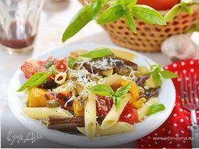 Салат из пасты с овощами по-деревенски