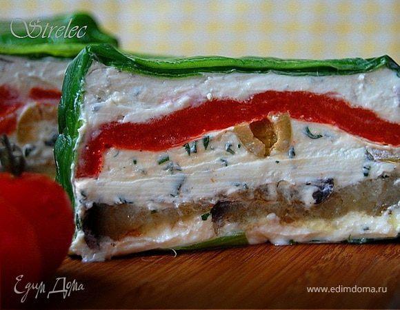 Сырно-творожный террин с овощами