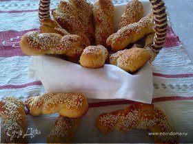 Печенье на оливковом масле с кунжутом