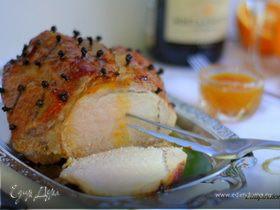 Праздничная свинина под апельсиновой глазурью