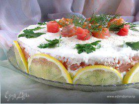 """Закусочный торт """"Розовый сад"""""""