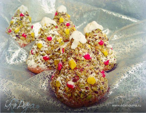 """Пирожные """"Новогодние елочки"""""""