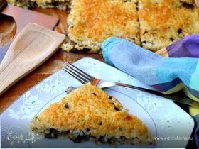 Рисовая лепешка, фаршированная грибами (torta di riso schiacciata)