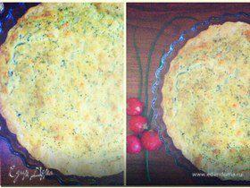 Пирог с креветками в сливочном соусе