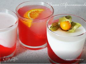 Молочно-персиковое желе