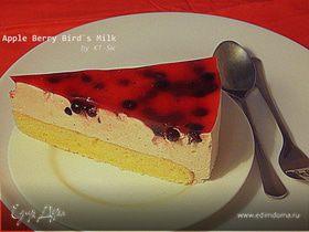 """Торт """"Птичье молоко"""" с яблочным пюре"""