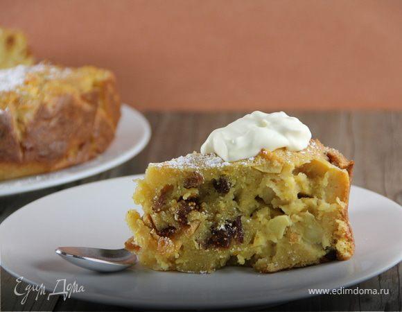 Болонский пирог с яблоками и полентой (Bustrengo)