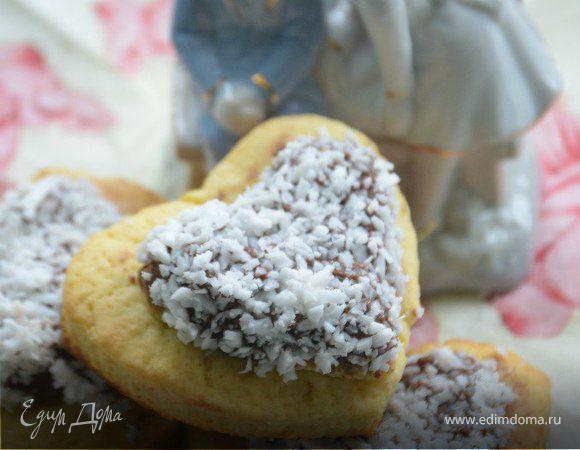 Печенье с шоколадной пастой