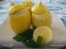 Лимоны, фаршированные кремом из тунца