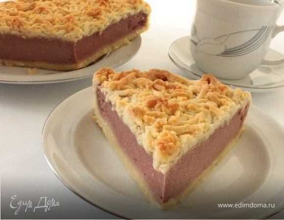 Творожный пирог с каркаде