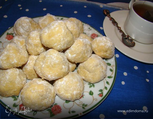 Рассыпчатое печенье из вареных желтков