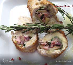 Свинина с розмарином, шпинатом и айвовым соусом