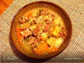 Сырный суп с говяжьими ребрами