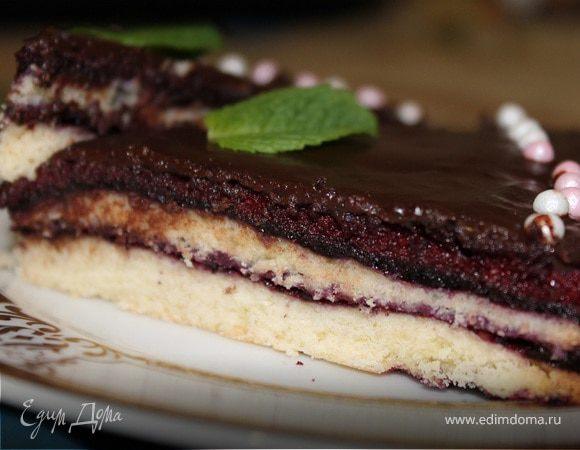 Торт с черничным муссом