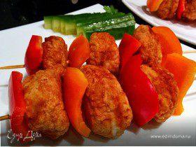 Хрустящие куриные шашлычки на ужин