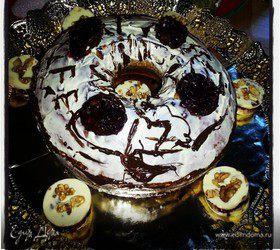 Бисквит шоколадно-ореховый