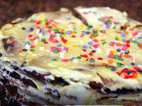 Ароматный торт с лимонным кремом