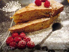 Французский кекс с персиками