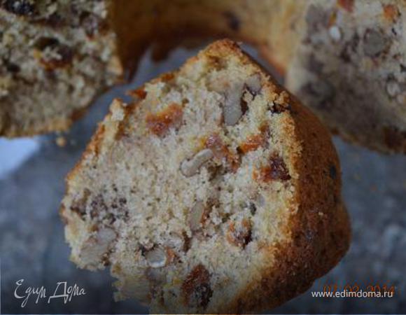 Зимний кекс с орехами и сухофруктами