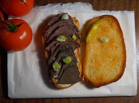 Горячий бутерброд с ливером