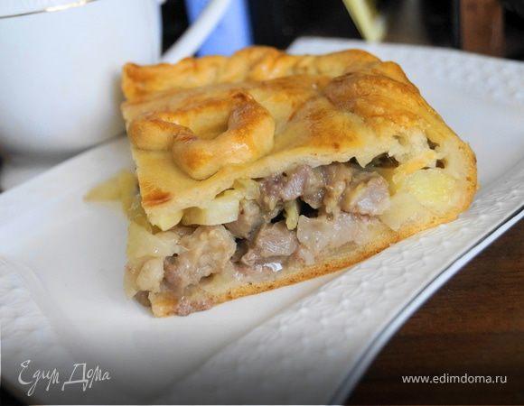 Пирог мясо с картошкой пошагово